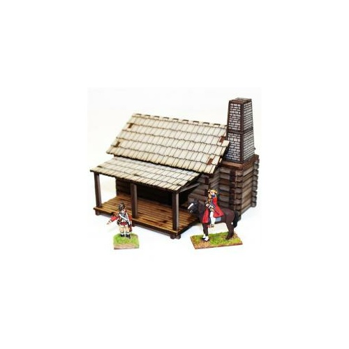 28mm American - New Eng. Settlers Cabin