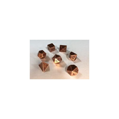 Metal Copper Polyhedral Roleplaying Dice Set (7)