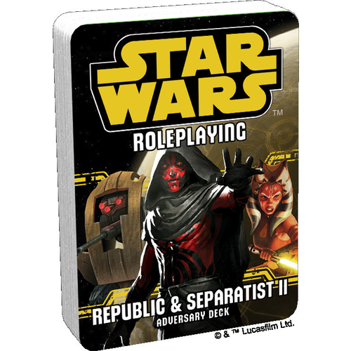 Star Wars RPG: Adversary Deck - Republic and Separatist II Adversary Deck